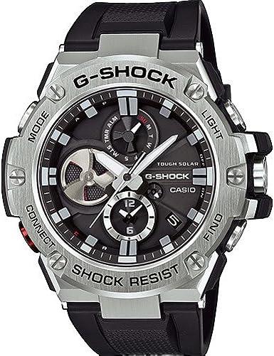 Casio GST-B100-1AER - Reloj (Reloj de pulsera, Acero inoxidable, Acero inoxidable, Resina, Negro, Mineral)