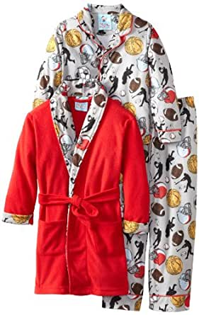 Baby Bunz Little Boys' Champions Pajama Set, Grey, 7