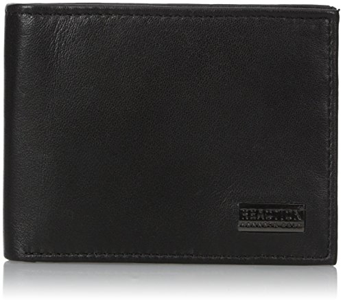 Kenneth Cole REACTION  Men's  RFID Security Blocking Slimfold Wallet,Nappa Black