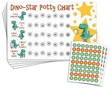 Amazon Com Potty Training Reward Chart With 189 Star Stickers For