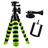 APRO Tripod for GoPro Iphone SLR Camera - Flexible Tripod with GoPro Mount and Smartphone Holder