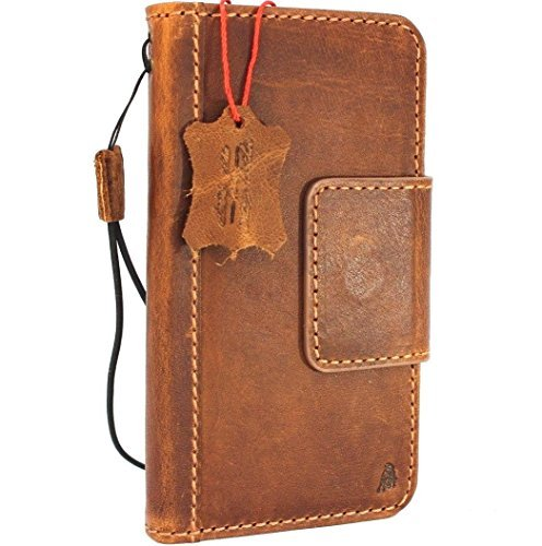 Genuine real Tan Leather Case for Samsung Galaxy S9 plus Book Wallet Luxury magnet closure Cover S Handmade Retro Id holder cards slots s 9 daviscase