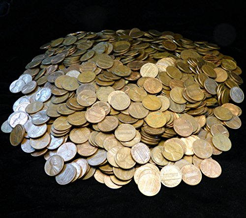 10 POUNDS OF COPPER PENNIES - Approximately 1470 United States Cents from 1982 and Earlier Mostly Lincoln Memorial but may contain some what cents - Not Searched for Error or (1982 Lincoln Cent)