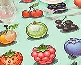 Vinylla Children Cartoon Fruit Easy Wipe Clean PVC Tablecloth, Round