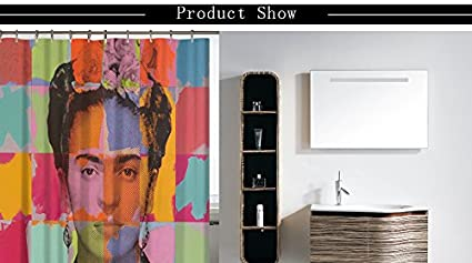 180 X 180cm A Miracille Frida Kahlo Printed Bath Shower Curtains With Waterproof Polyester