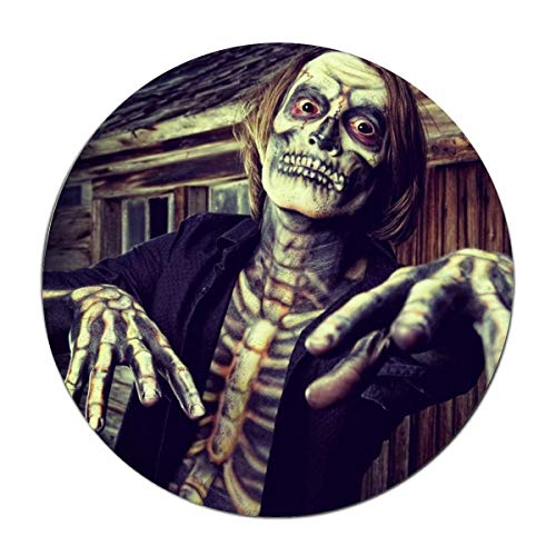 JONHBKD Custom Doormats Holiday Halloween Costume Skeleton Entryways Indoor/Outdoor Floor Mat Welcome Doormat]()