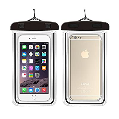 Universal Dry Bag Waterproof Phone Bag - 2 Pack Luminous Light Pouch Transparent Snowproof Dirtproof for iPhone 6/6s Plus/5s/se/Galaxy S5/S6/S7 Edge plus Note 4/5 and More