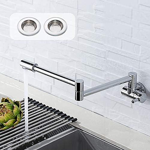 robinet cuisine mural Robinet mural chaud et froid 304 /éviers de cuisine en acier inoxydable bassins robinet rotatif universel