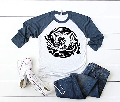 Mountain Bike Unisex Raglan Shirt  685a816e8