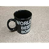Ceramic Mug World's Best Boss Mug Middle Finger Cute Mugs - Funny Saying Flip Off Ceramic Coffee Cup with Black by Busen