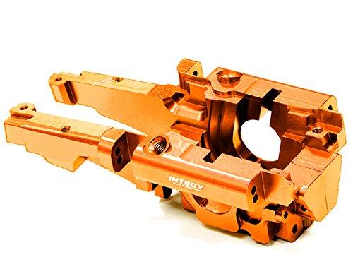 Integy RC Model Hop-ups T3296ORANGE Billet Machined Rear Bulkhead for 1/10 Traxxas E-Revo Revo 3.3 (Anodized Aluminum Rear Bulkhead)