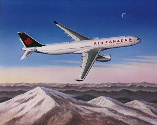 Air Canada Airbus (Planejunkie AIR CANADA AIRBUS by Mike Machat - Airbus A330 - Aviation Art Print)