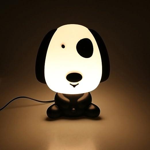 LEDMOMO Dibujos animados Animal de noche luz lindo lindo perro mesa lámpara niños durmiendo cama habitación
