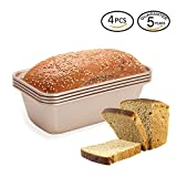 Bread Loaf Pan 6 Inch Mini 4pc Non-stick Bakeware Baking Pans by LUFEIYA