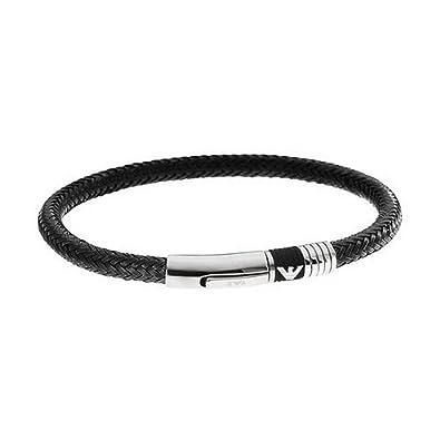 2019 Neupreis Größe 7 wähle echt Emporio Armani Herren-Armband EGS162400119, Schwarz, 21 CM ohne schloss