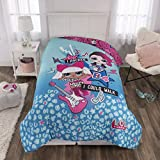 "L.O.L. Surprise! Kids Bedding Soft Microfiber Reversible Comforter, Twin/Full 72"" x 86"", Blue/Pink"