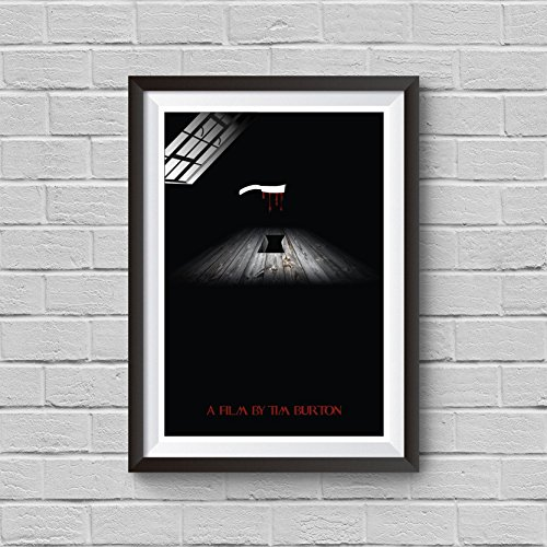 [Sweeney Todd The Demon Barber of Fleet Street Minimalist Poster Tim Burton Alternative Movie Print Vintage Pop Culture and Modern Home Decor Cinema Poster Artwork Wall Art Wall Hanging Cool] (Sweeney Todd Halloween)