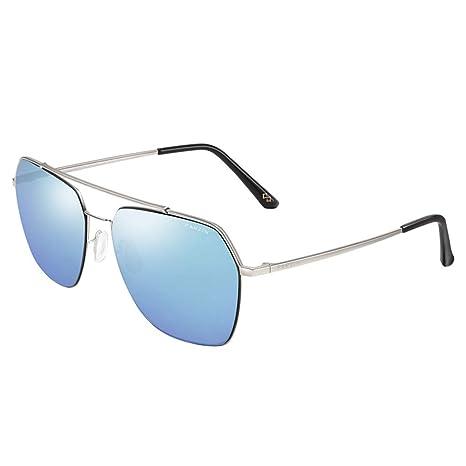ZXW Gafas de Sol- Gafas de Sol Hombre Metal Caja Grande ...