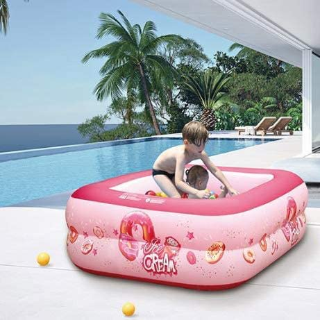 Piscinas para niños Grandes, Piscina Inflable Summer For Family - Rectangle 3 Rings Inflable Kiddie Pools Swim Center: Amazon.es: Deportes y aire libre