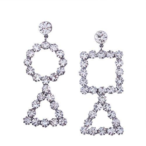 Jewelry Studs Spinning (earrings geometric asymmetrical elements ladies rhinestone wild stud earrings)