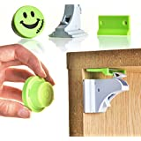 Baby Locks for Smart Parents, No Tools, Magnetic Child-Proof Safety, 8 Locks And 2 Keys, for Kitchen and Bathroom Cabinets. By Safetystork