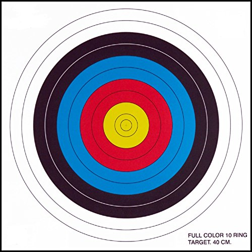 .30-06 10 Ring Paper Target 100 Count (Paper Archery Targets)