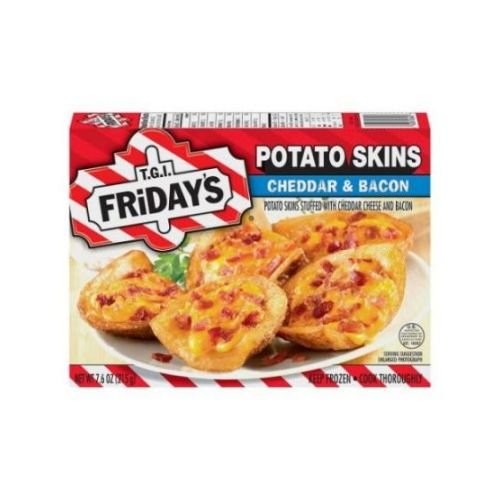 Tgi Fridays Potato Skins Stuffed with Cheddar Cheese and Bacon Appetizer, 7.6 Ounce - 8 per ()