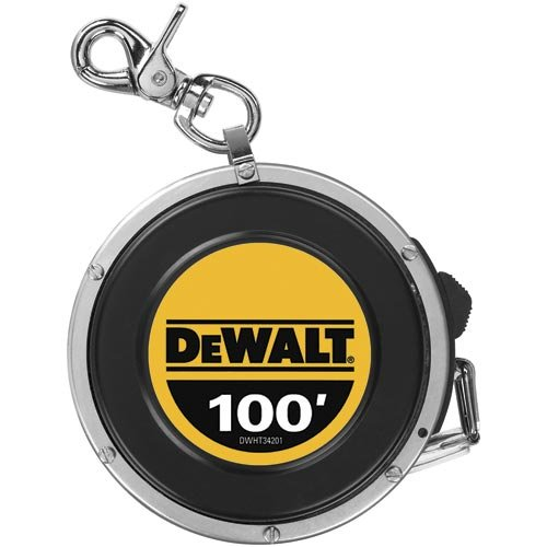 DEWALT DWHT34201 100-Foot Auto Rewind Steel Long Tape