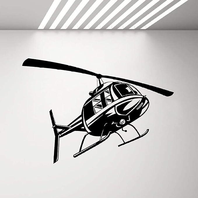 JXGG Helicóptero Fuerza Aérea Tatuajes de Pared Decoración Juvenil ...