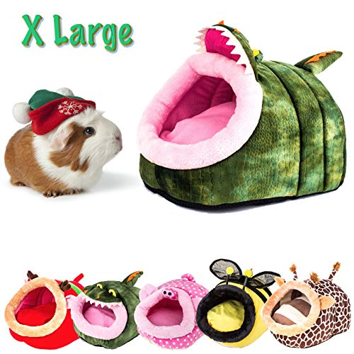 MelPet Guinea Pig, Hedgehog, Chinchilla, Hamster, Sugar Glider Rat House, XL Washable Winter Nest,Small Pet Animal Cushion Cube House, Suitable for Above 1 Pound (Crocodile)