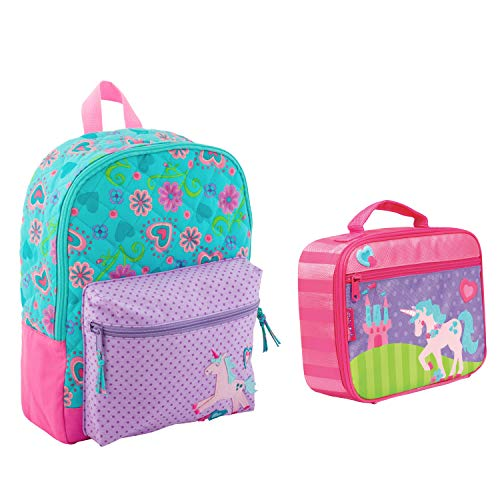 (Stephen Joseph Quilted Unicorn Backpack Book Bag and Lunch Box)