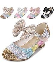 Cadidi Dinos Little Girls Dress Shoes Wedding Party Heel Princess Flower Shoes (Toddler/Little Kid/Big Kid) 11 M US Little Kid