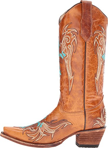 Corral Boots Womens L5104 Cognac/Turquoise sdycaFqs07