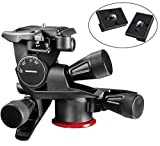 Manfrotto MHXPRO-3WG XPRO Geared Head and Two ZAYKiR Quick Release Plates for the RC2 Rapid Connect Adapter