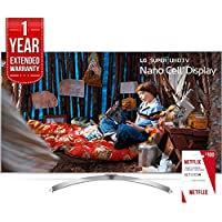 LG 65 Super UHD 4K HDR Smart LED TV 2017 Model (65SJ8000) Includes 1 Year of Netflix + 1 Year Extended Warranty