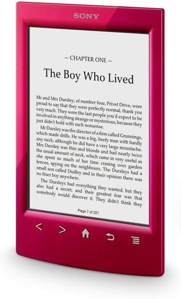 Sony PRST2HRC - Lector de e-Book, WiFi, Color Rojo: -: Amazon.es ...