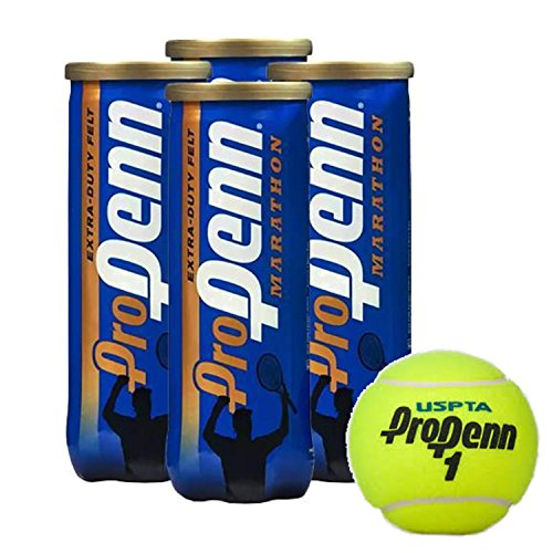 Pro Penn Marathon Extra-Duty Tennis Balls, 3 Ball Can (4-Pack)