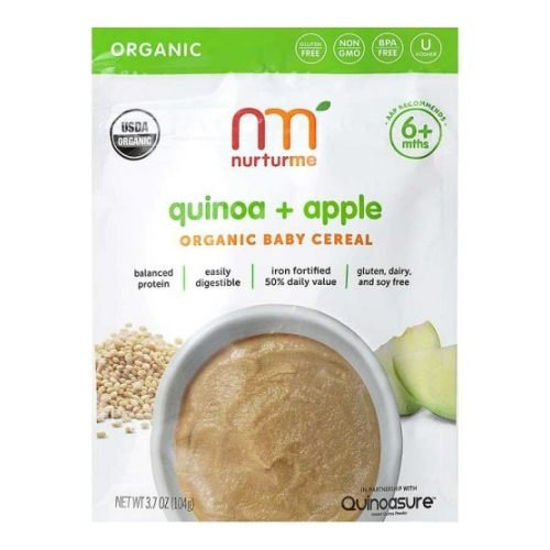 Nurturme Organic Quinoa Plus Apple Cereal, 3.7 Ounce - 6 per case.
