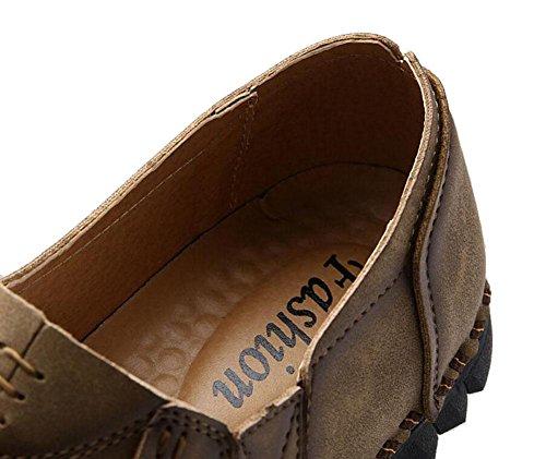 Sport Fr眉hling SHIXR T盲gliche Freizeitschuhe Bootsschuhe 44 M盲nner Leben Jugend St盲dtische wilde Neue Schuhe khaki britische Schuhe P44qTC5