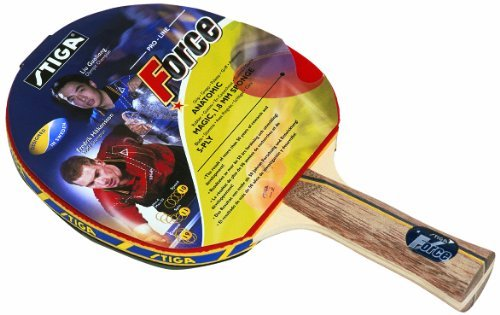 Stiga 178334 Force Table Tennis Bat - Red, Anatomic by Stiga by Stiga