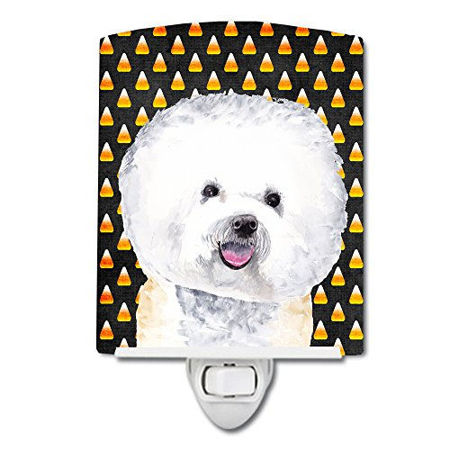Caroline's Treasures Bichon Frise Halloween Portrait Night Light 6