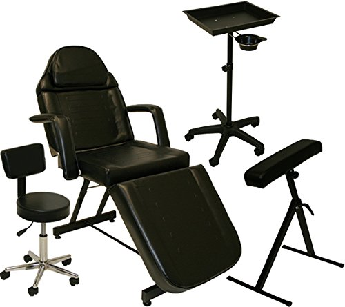 Inkbed tattoo package massage table chair arm bar ink bed for 2 chairs tattoo