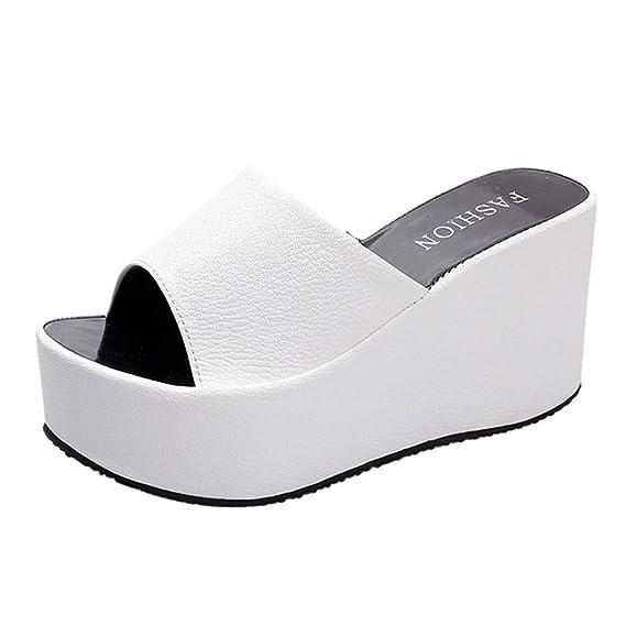 data di uscita: soddisfare presa di fabbrica Pantofole Donna Estive Eleganti Ciabatte Con Zeppa Tacco Vintage ...
