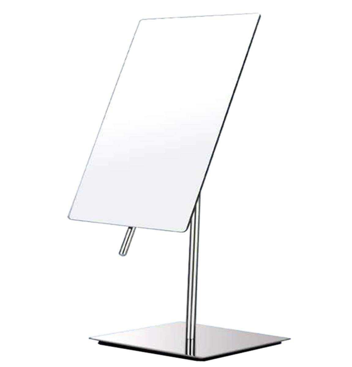 iRomic 3X Magnified Modern Vanity Makeup Mirror,Adjustable Portable Rectangle Framless Countertop tabletop Cosmetic Beauty Mirror,Premium Stainless Still Polished Chrome Finish