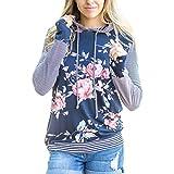 xxxl cowl neck hoodie - FeelinGirl Women Floral Printed Casual Long Sleeve Hoodie Sweatshirts Pullover Tops