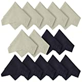 Microfiber Cleaning Cloths 14 Pack - for Canon Nikon Sony Pentax Camera Lenses, Camera Screens, Cell Phones, Tablets and Any Other Delicate Surface (7 Black, 7 Grey ; 6 x 7 inches (15cm x 18cm))