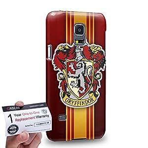 Case88 [Samsung Galaxy S5 Mini] 3D impresa Carcasa/Funda dura para & Tarjeta de garantía - Harry Potter & Hogwarts Collections Hogwarts Gryffindor Sigil 0567