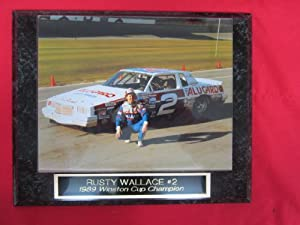 Rusty Wallace NASCAR Collector Plaque w/8x10 VINTAGE Photo by J C Baseball Clubhouse