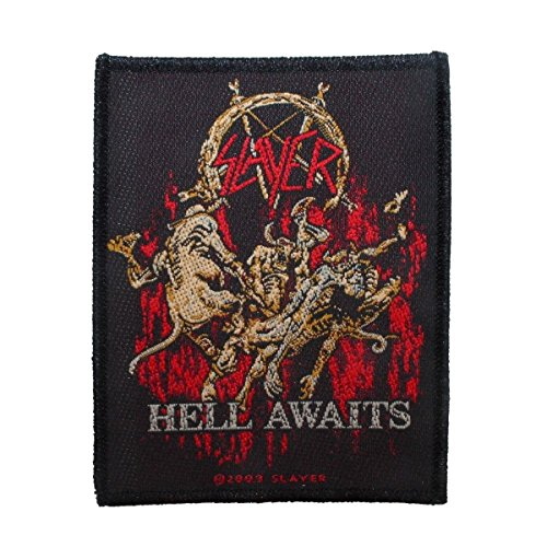 Slayer Hell Awaits Thrash Metal Band Album Merchandise Sew On Applique Patch by Mia_you