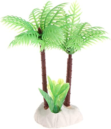 NKYSM - Pérgola de coco para plantas de agua, decoración subacuática, decoración de plástico: Amazon.es: Hogar